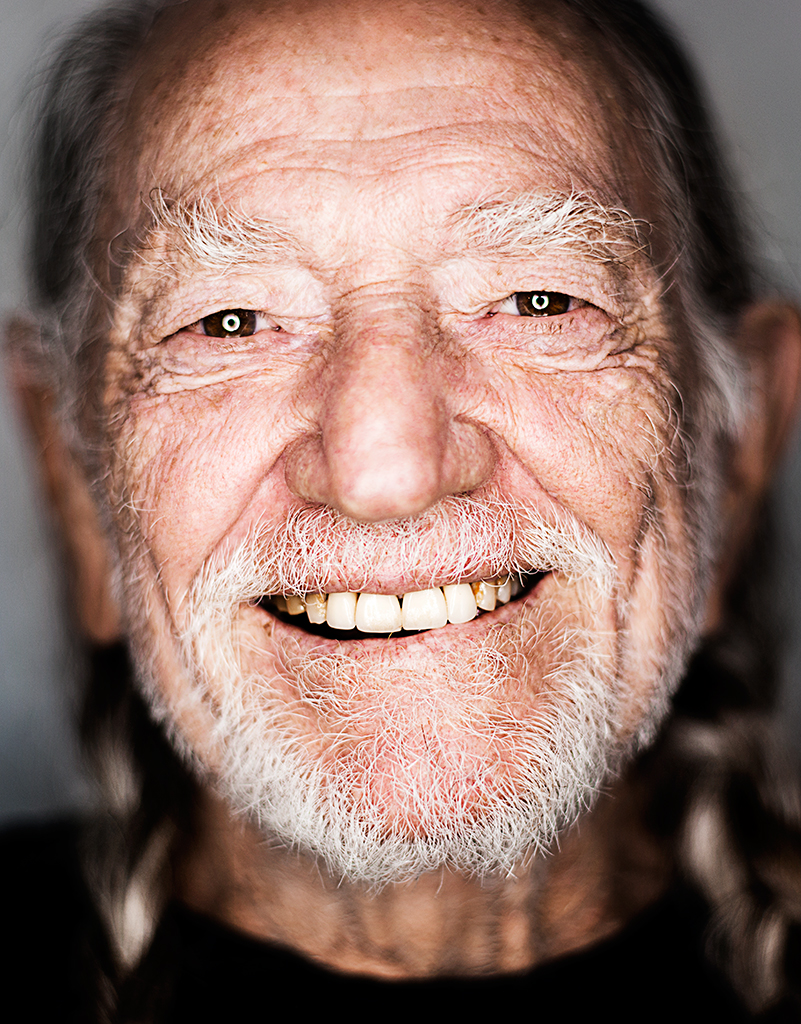 LEGEND...musician Willie Nelson was shot using a ring light - clearly visible in both eyes