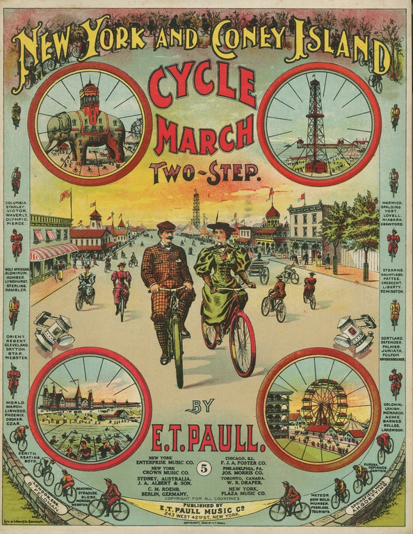 PATH PERFECT...vintage sheet music celebrating the Coney Island Path