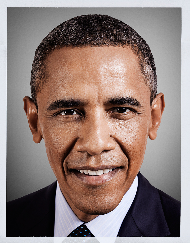 PICTURE PERFECT...Mark Mann's finished shot of President Obama for Esquire Magazine