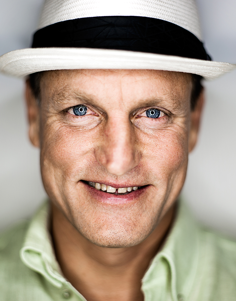 SMILES...actor Woody Harrelson was eventually chosen as the 52-year-old for the project