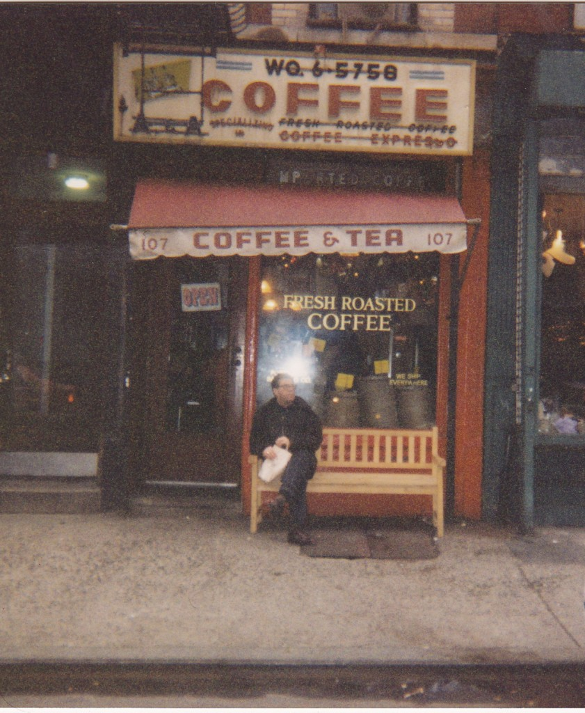 SLIM PICKINGS...one of the few cafes in the East Village in the 80s