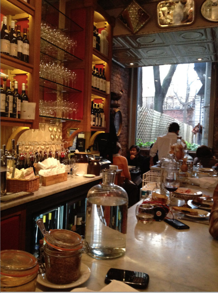 COSY...Buvette French restaurant in Grove St, West Village