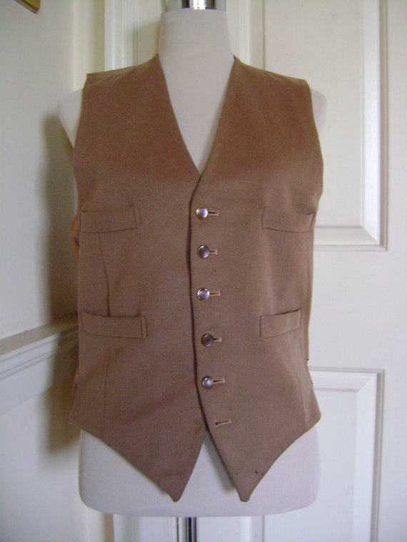 BOARDWALK BOY...get that dapper 20s look with this camel waistcoat