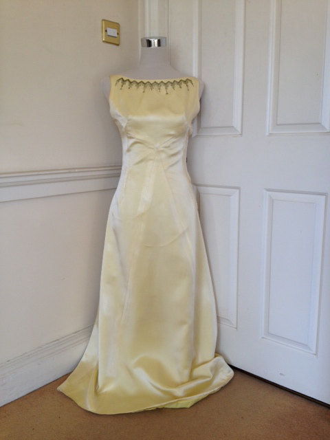STUNNING...this full-length Audrey Hepburn-style gown is for sale in the shop
