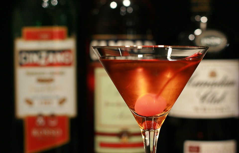 COCKTAIL HOUR... grab a Manhattan at Angel's Share