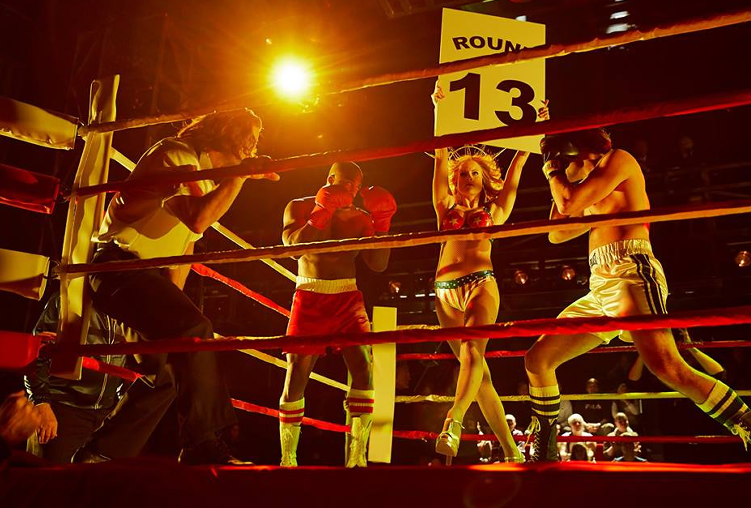 ACTION...Rocky live on Broadway, complete with full-size boxing ring