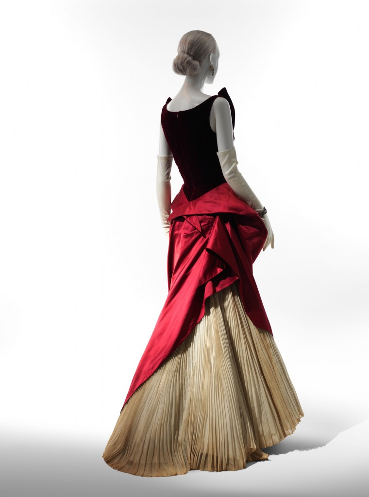 ballgown on display at the Met's exhibition