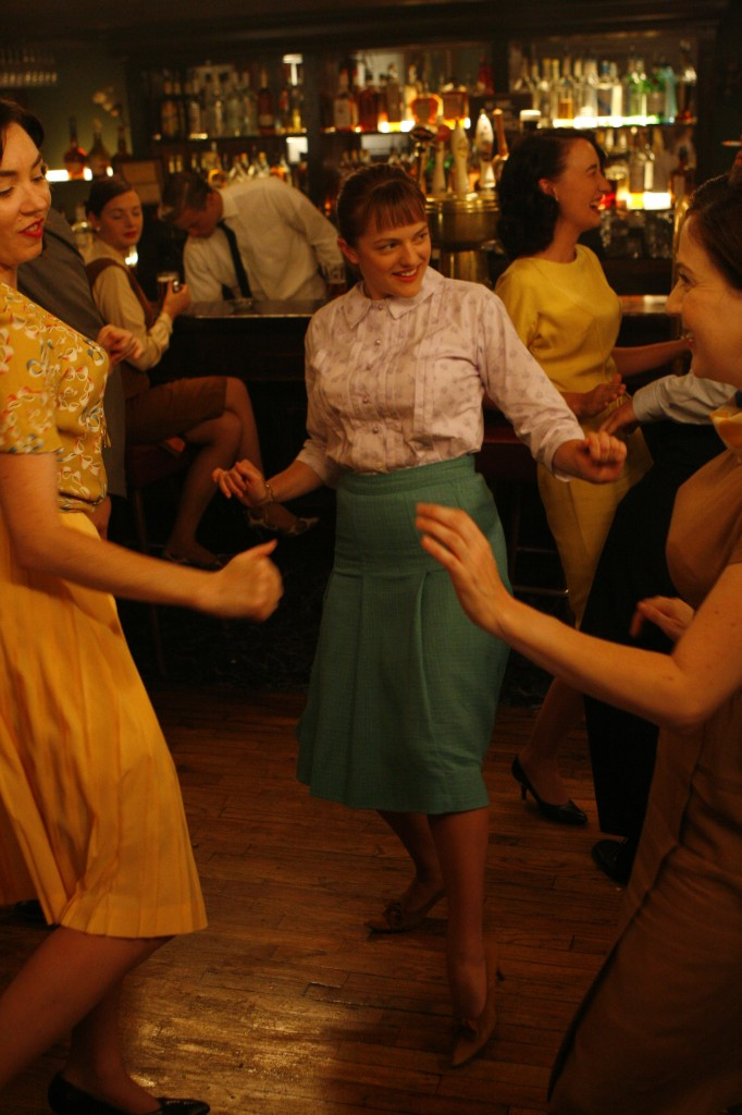 PLOT TWIST...Peggy dances in P.J Clarke's with girls from the office