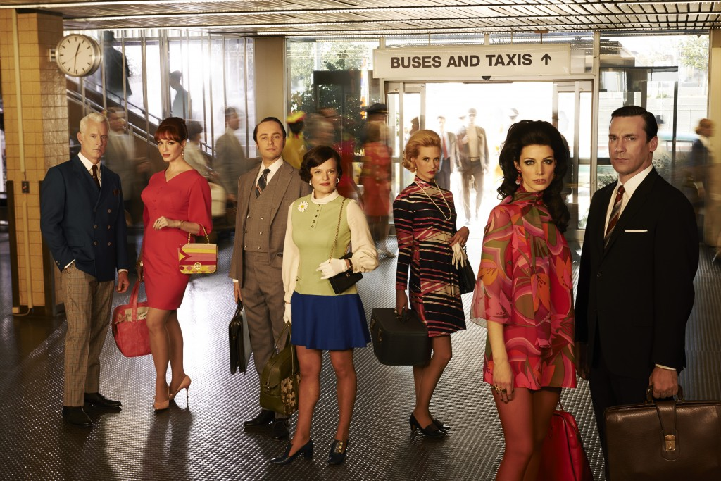 PLENTY OF BAGGAGE...The cast of Mad Men in the 7th, and final, series