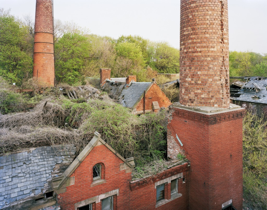 OVERGROWN...boilerplant from morgue roof  Photo © Chris Payne