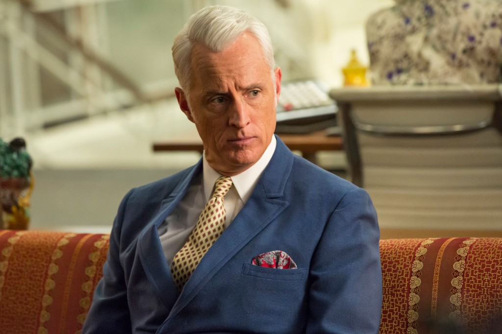FLAWED CHARACTER...Hirsch says he feels an affinity for troubled Roger Sterling