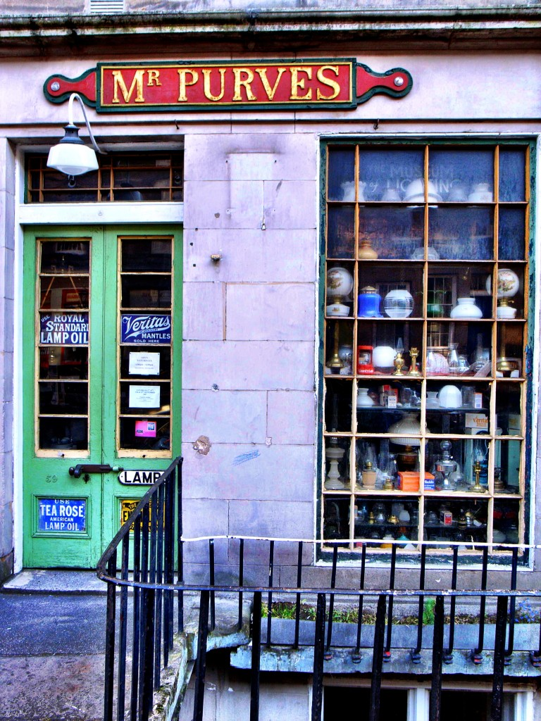 QUIRKY...Mr Purves's lamp shop
