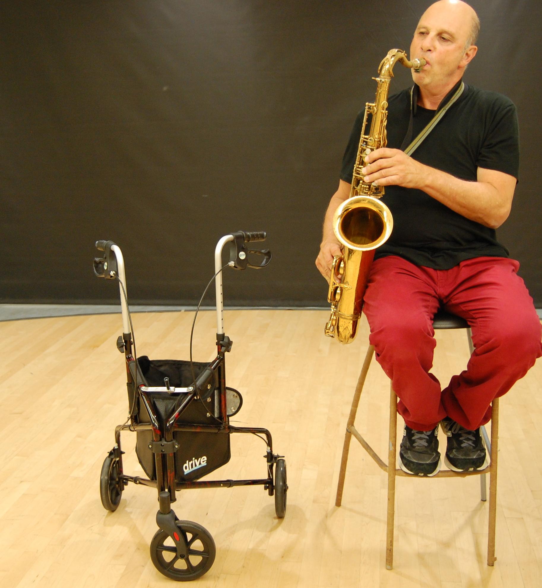 Jerry Finkelstein plays sax