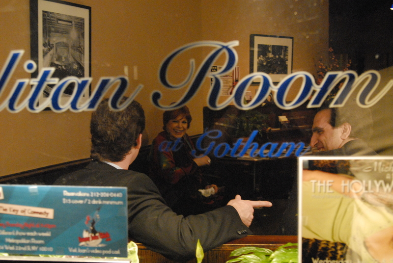LAUGHS...Ross hangs out at the Metropolian Room after the show
