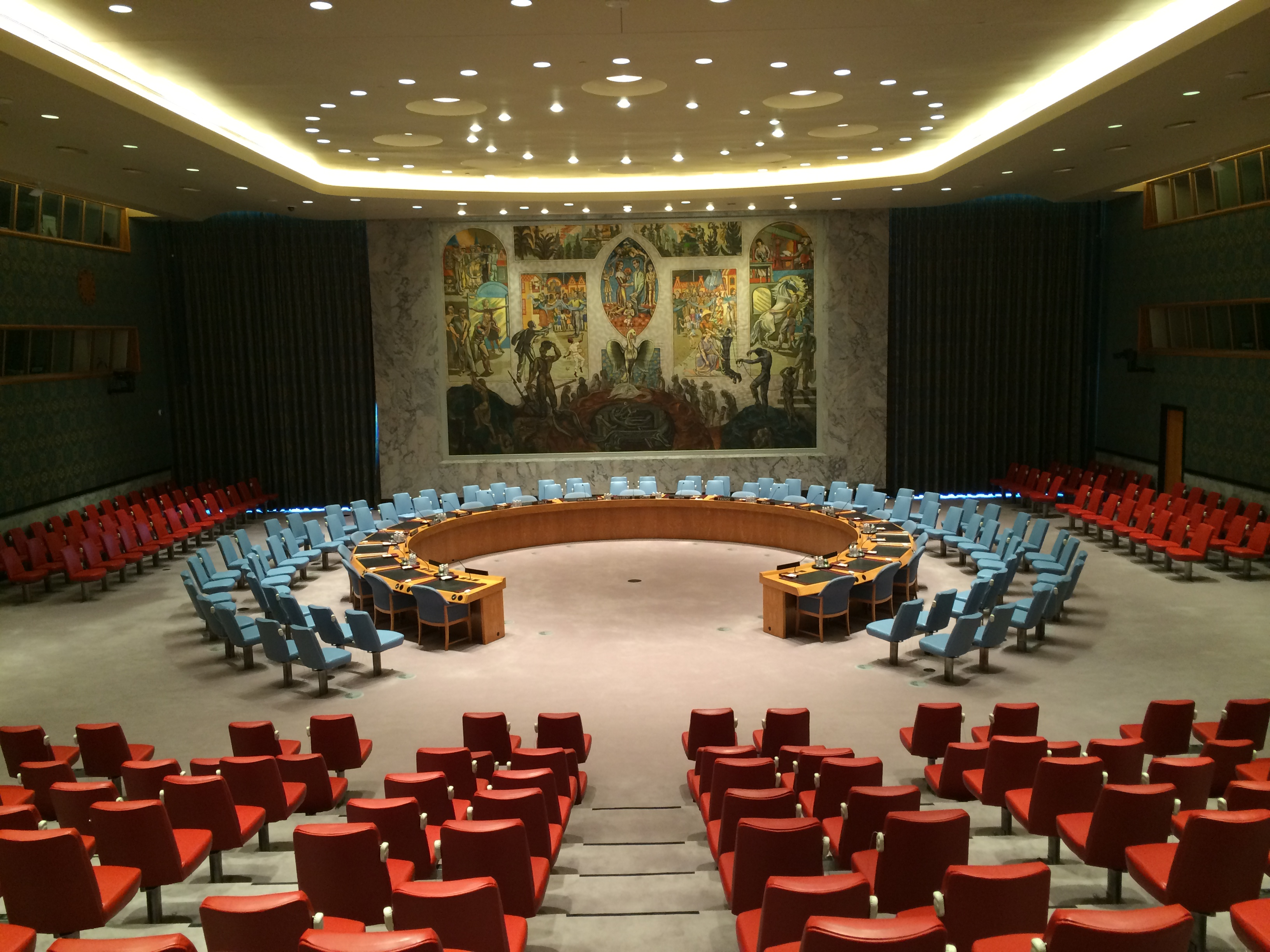 COLOR POP... the beautifully bright Security Council Chamber
