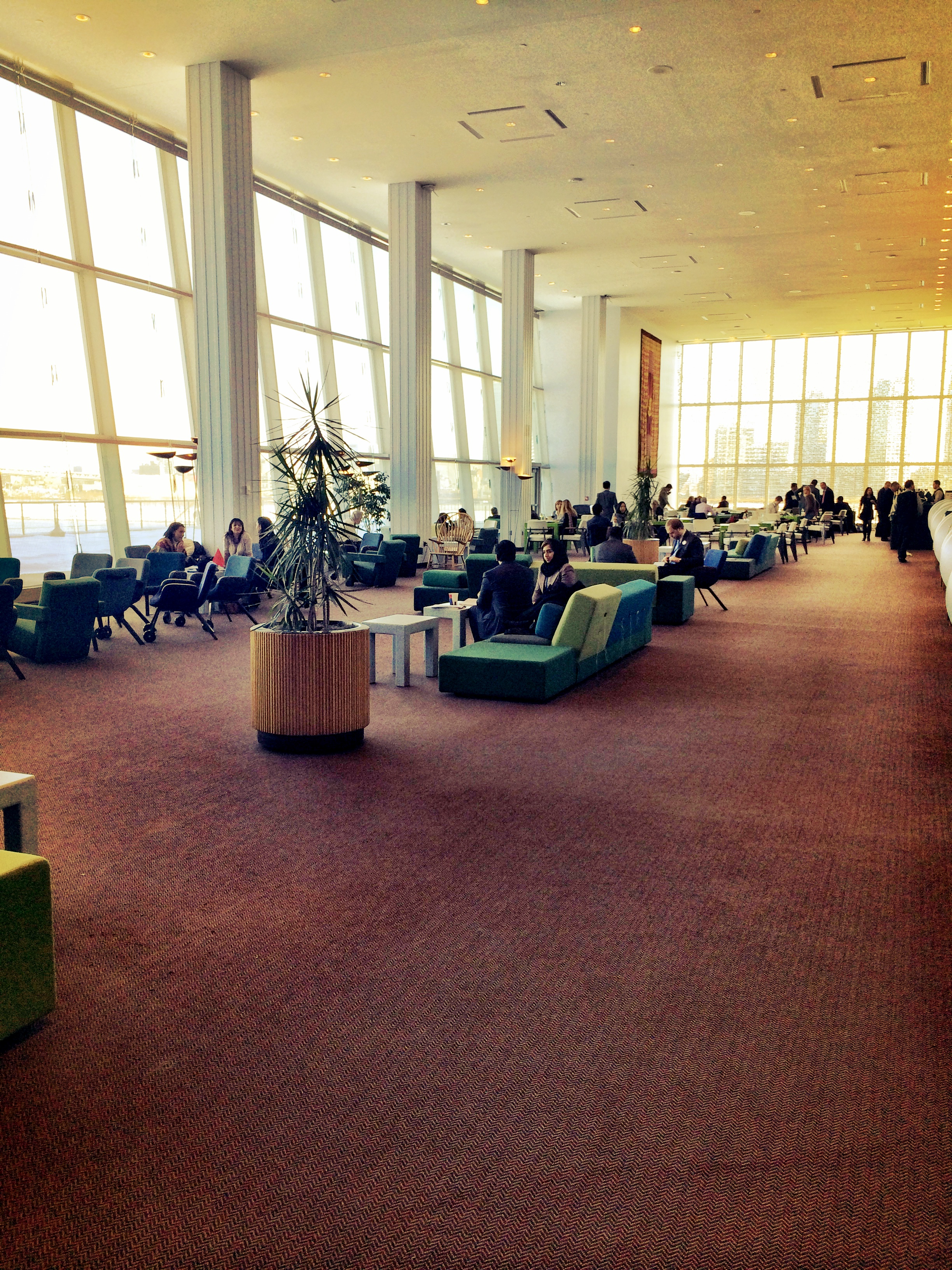 AIRY...the Delegates Lounge is filled with Scandinavian furniture