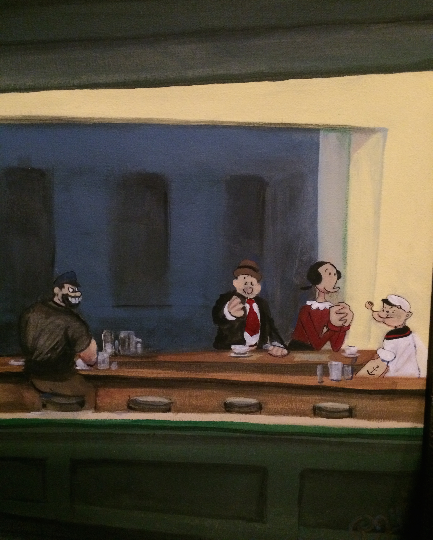 DINER...Hecker's painting Popeye Hopper