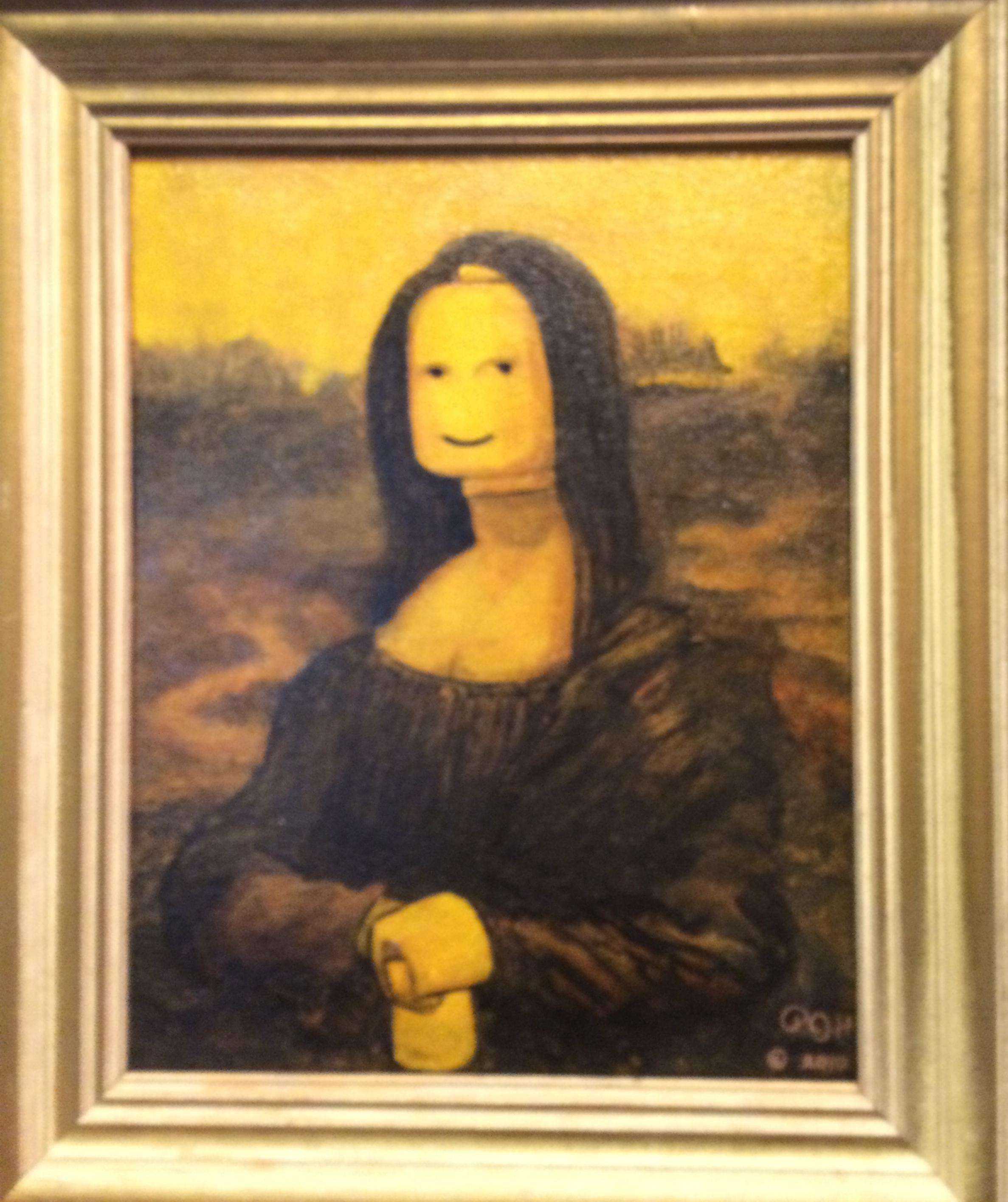 SMILE...Hecker's Mona Lego harks back to Da Vinci