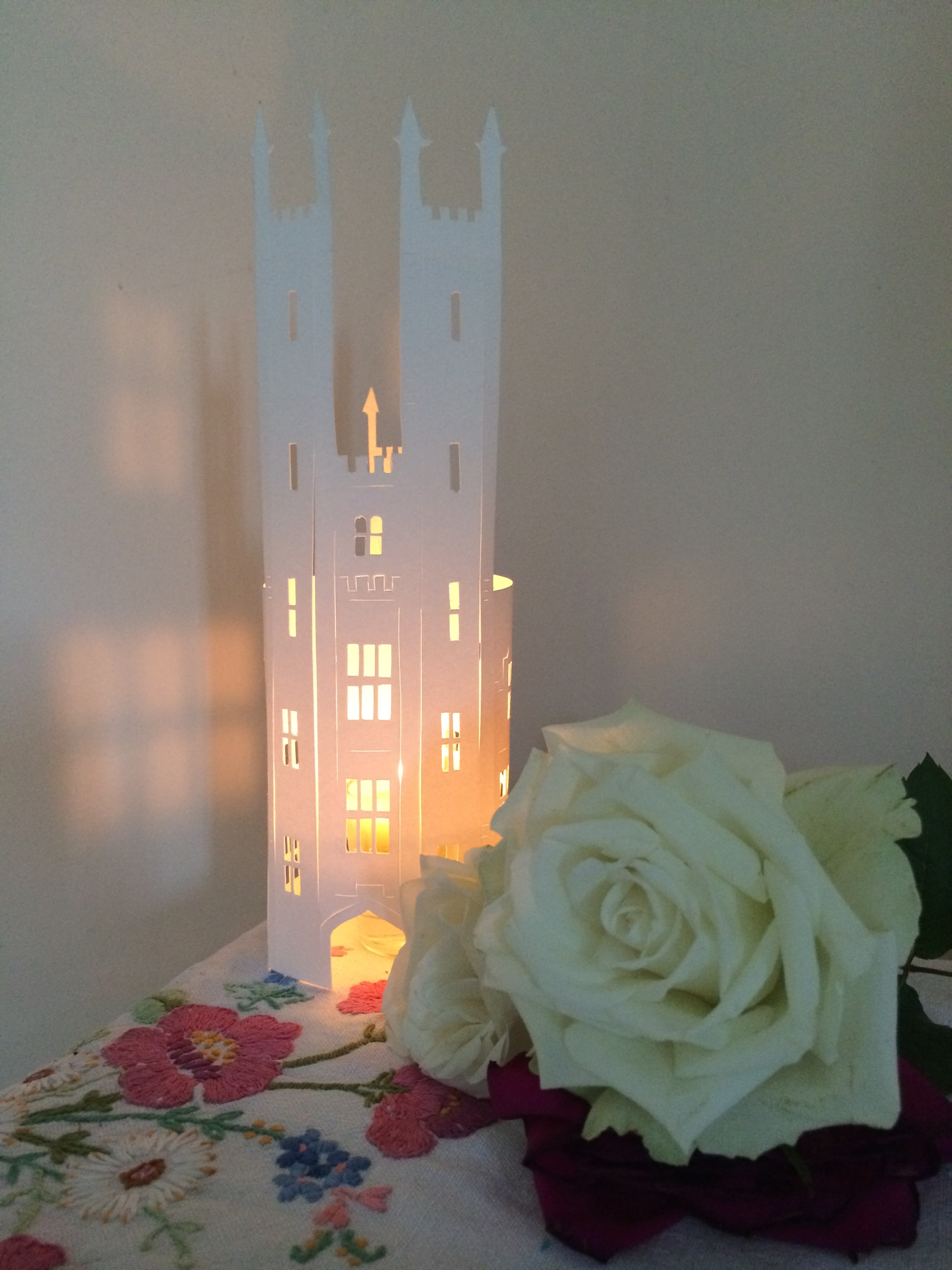 Tower cut candle