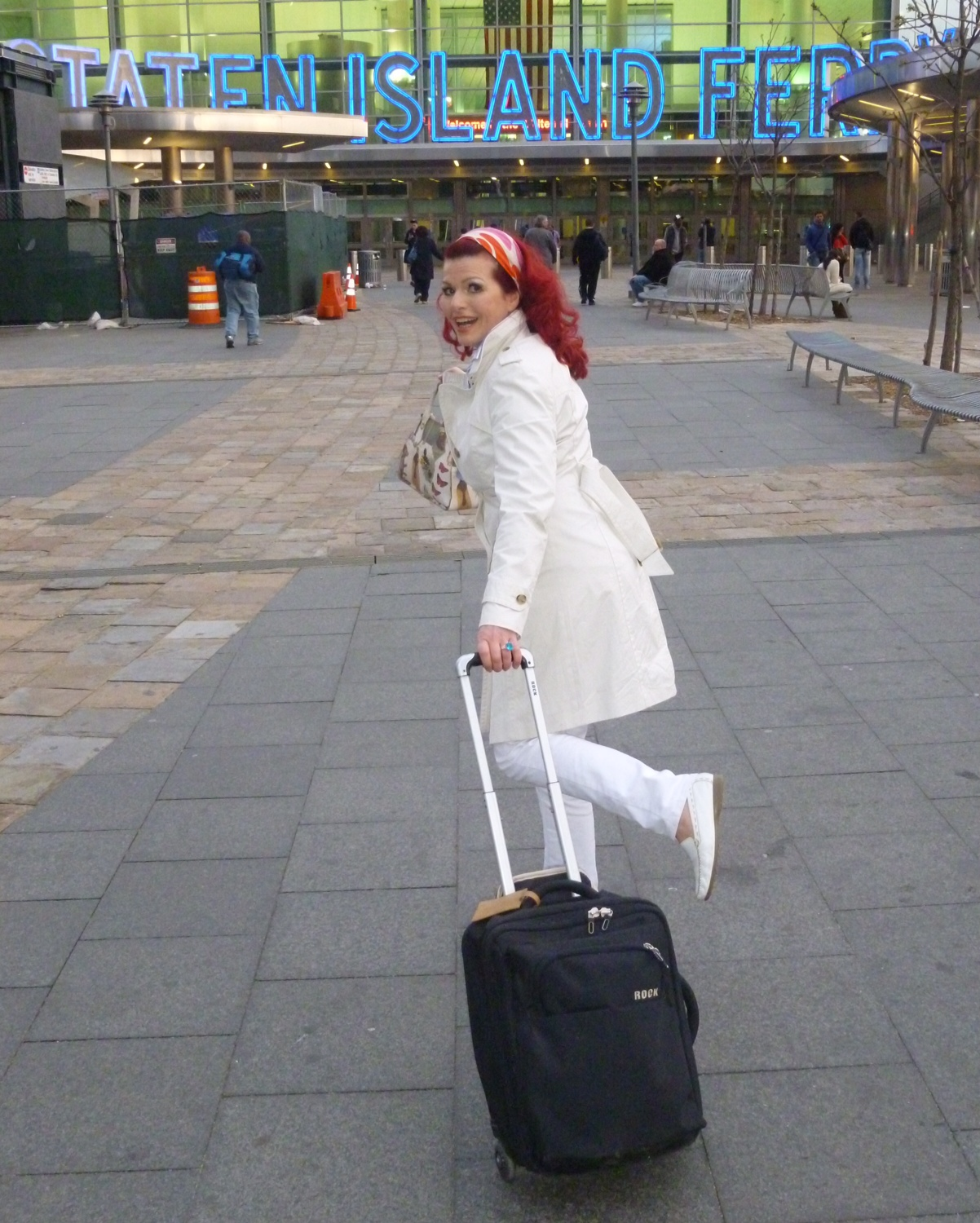 WORKING...Despite her celebrity, Rocos lugs a suitcase from bar to bar to sell her tequila