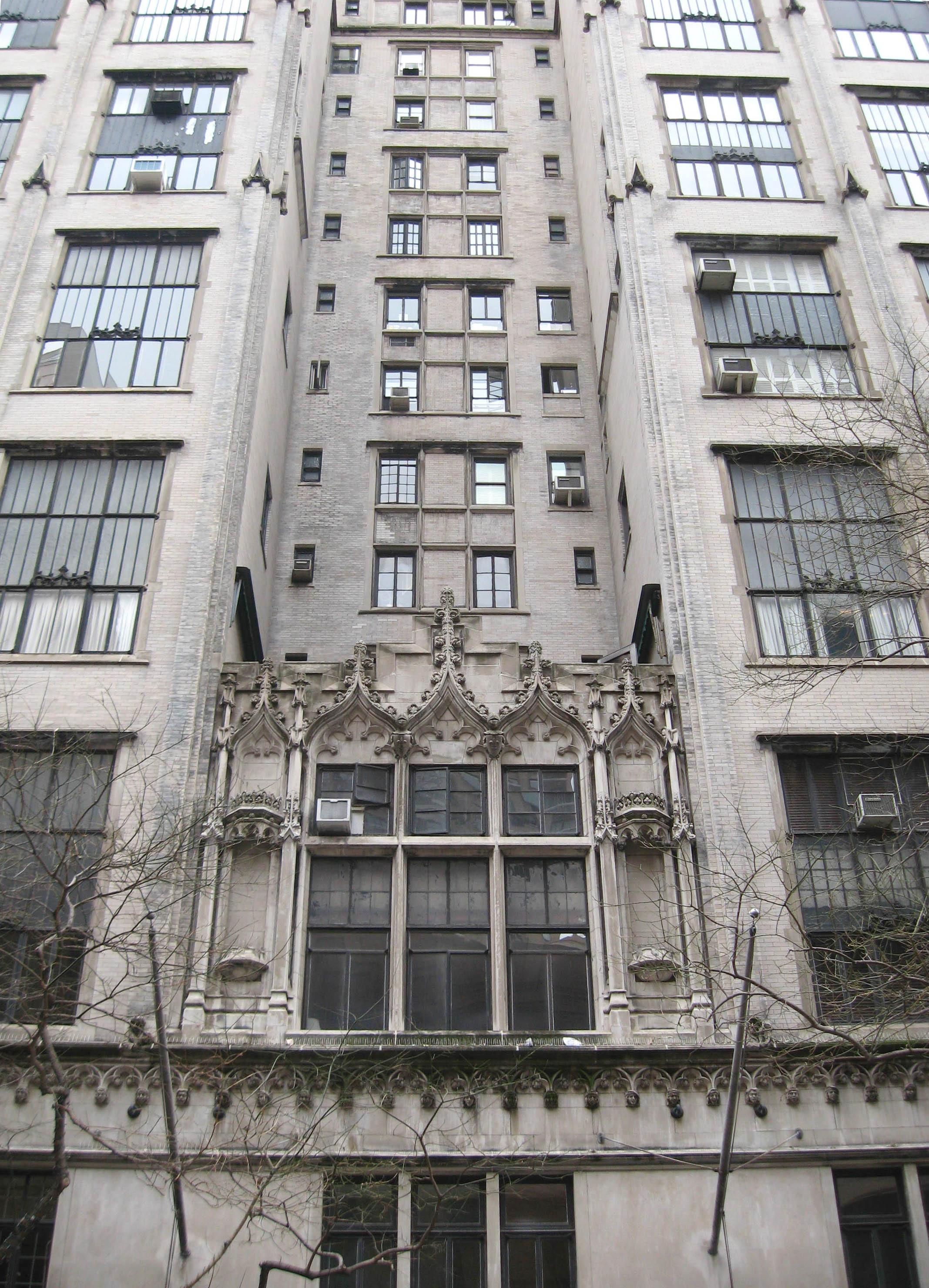NEO-GOTHIC...The impressive facade of Hotel des Artistes