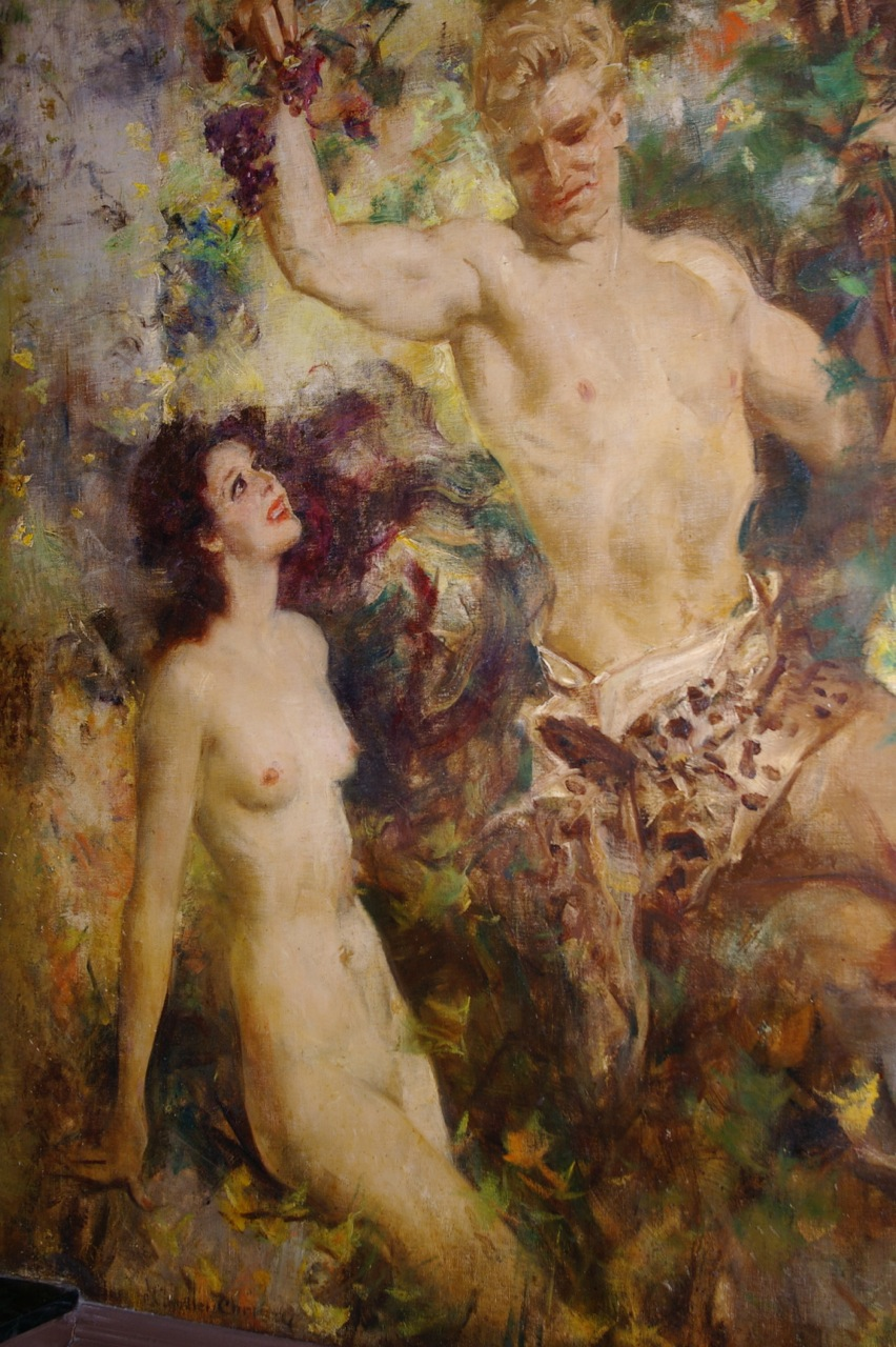 TARZAN...a scene from Howard Chandler Christy's mural