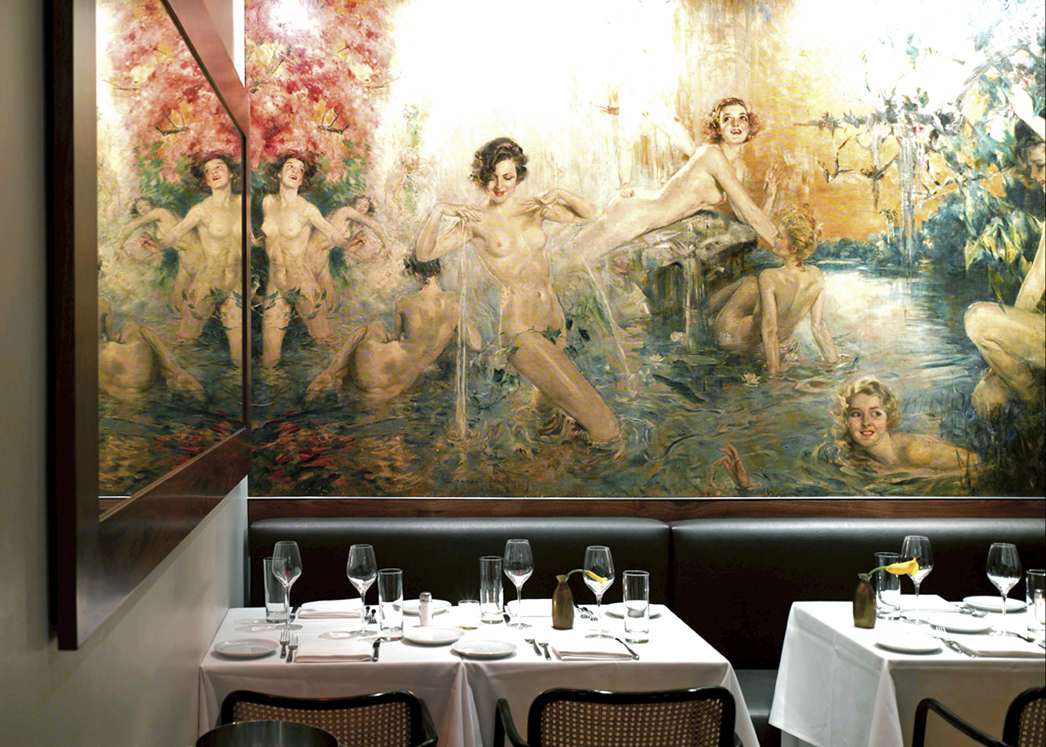 RESTAURANT...Howard Chandler Christy's mural in The Leopard