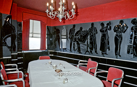 SEEING RED...Walter Chrysler's private dining room. Pic by Decopix.com