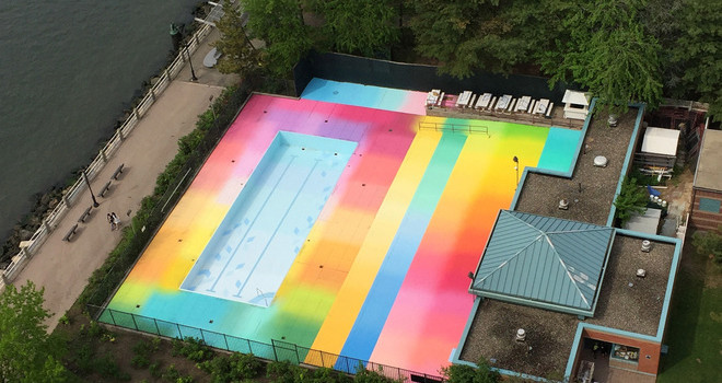 Splash Of Color At New York Pool Boo York City