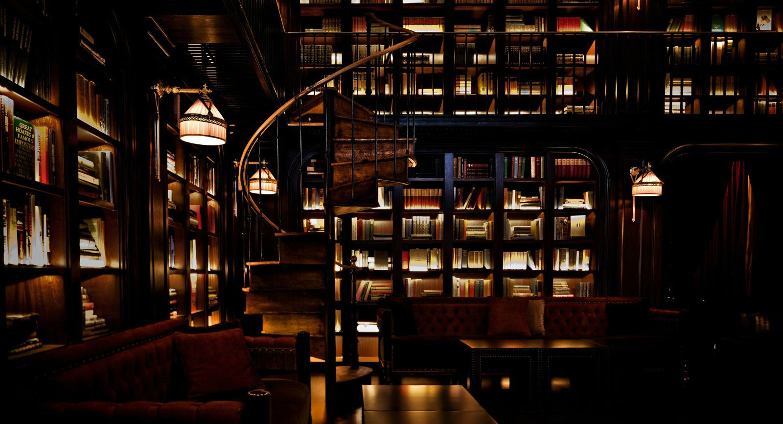 STUNNING...The Library at the Nomad Hotel has two floors of books to drink with