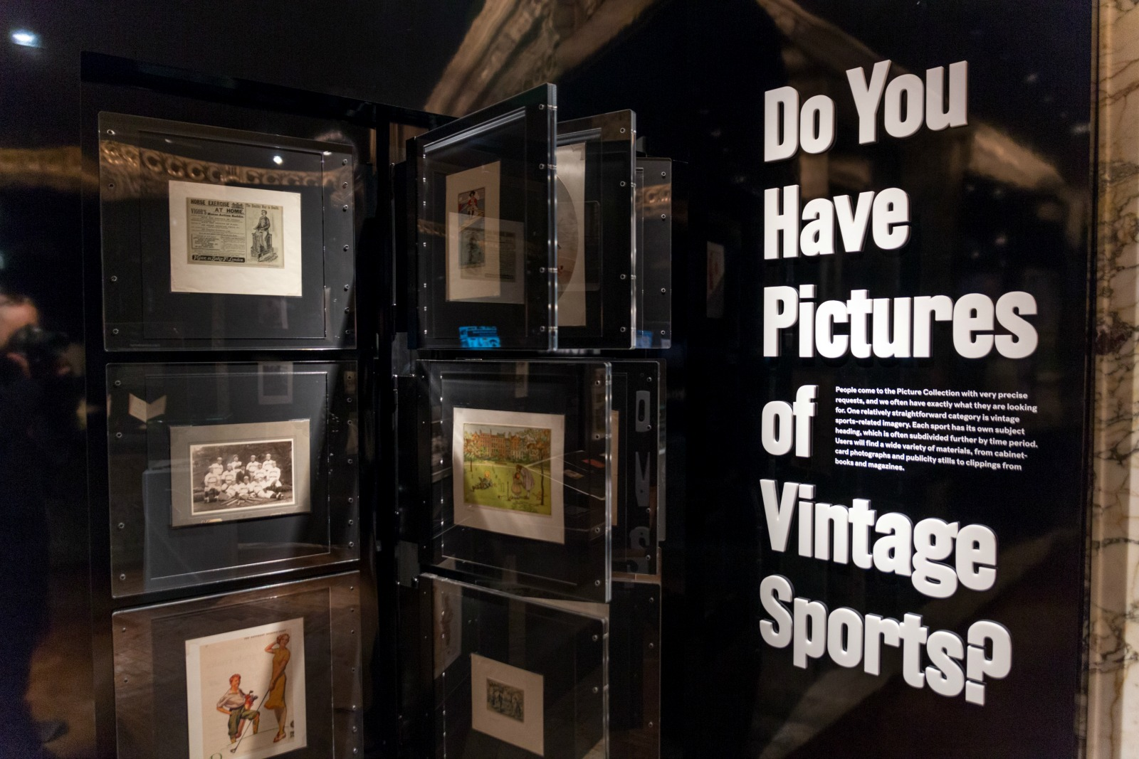 HISTORY...vintage sports are featured in the show ©NYPL