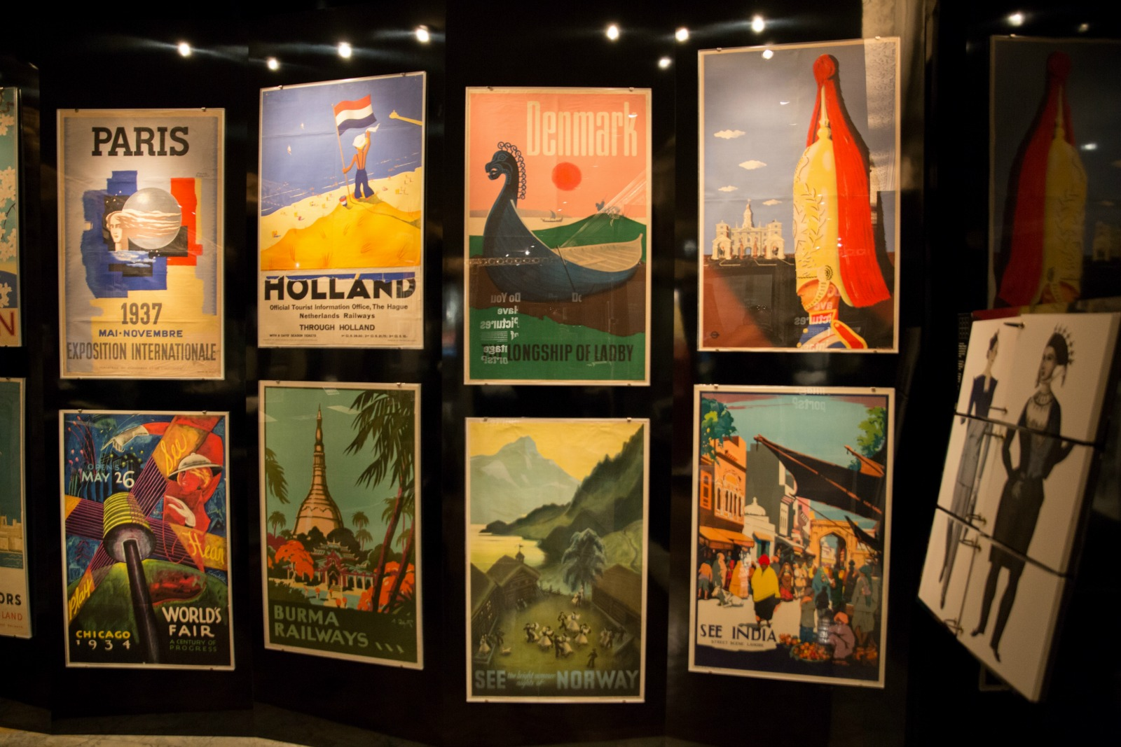 EYE-CATCHING...the vintage travel poster display ©NYPL