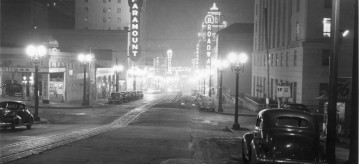 Broadway at night vintage