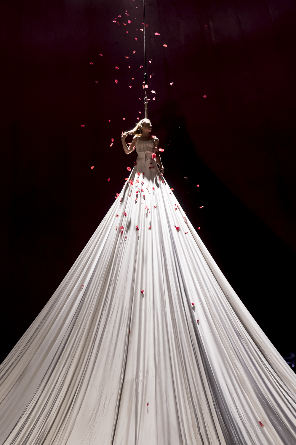 Stunning 20ft-high dress which is part of Bianco circus @Sigrid Spinnox